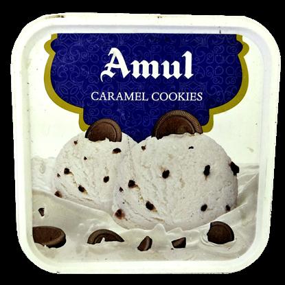 Picture of Ice Cream Caramel Cookies 1L.(Amul)