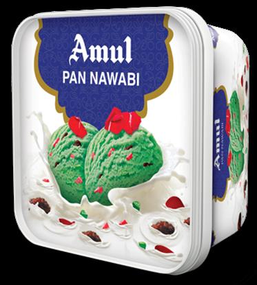 Picture of Ice Cream Pan Nawabi 1L .(Amul)