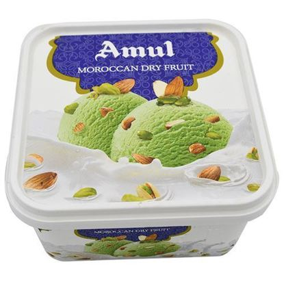Picture of Ice Cream Moroccan Dry Fruit 1L .(Amul)