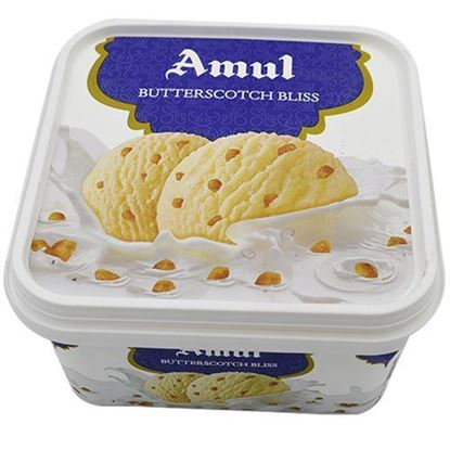 Picture of Ice Cream Butterscotch Bliss 1L.(Amul)