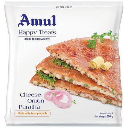 Picture of Cheese Onion Paratha 500gm.(Amul)